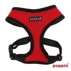 Puppia Soft Harness in Red
